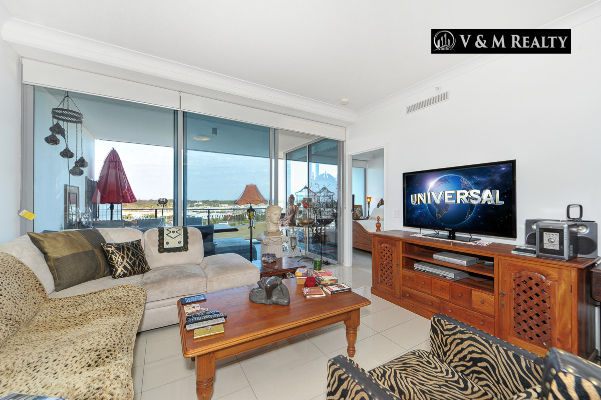 706/43 Harbour Town Drive, Biggera Waters QLD 4216-Stunning Apartment with Surfers Paradise Views!